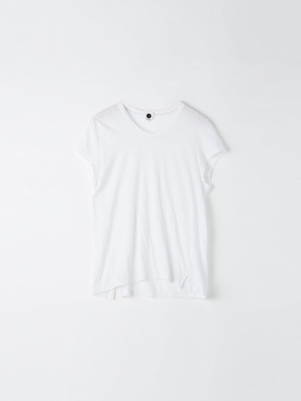 bassike fitted cap sleeve t.shirt in grey marl