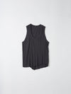 bassike detailed t.back tank in washed navy