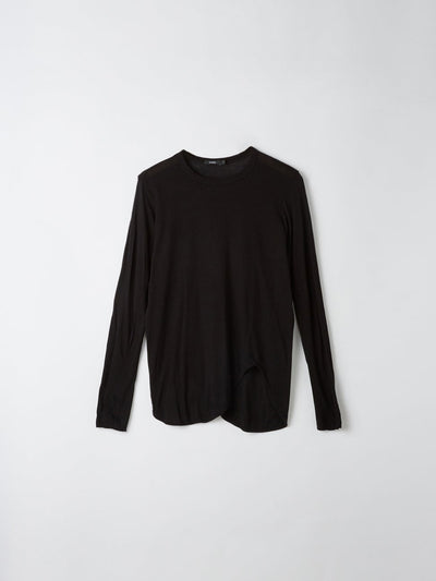 heritage scoop hem long sleeve t.shirt