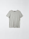 bassike classic vintage t.shirt in grey marl