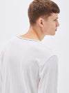 original neck long sleeve t.shirt with tail