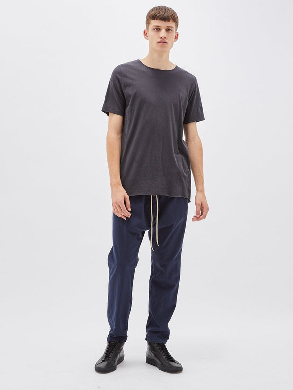 bassike original t.shirt with tail in washed navy