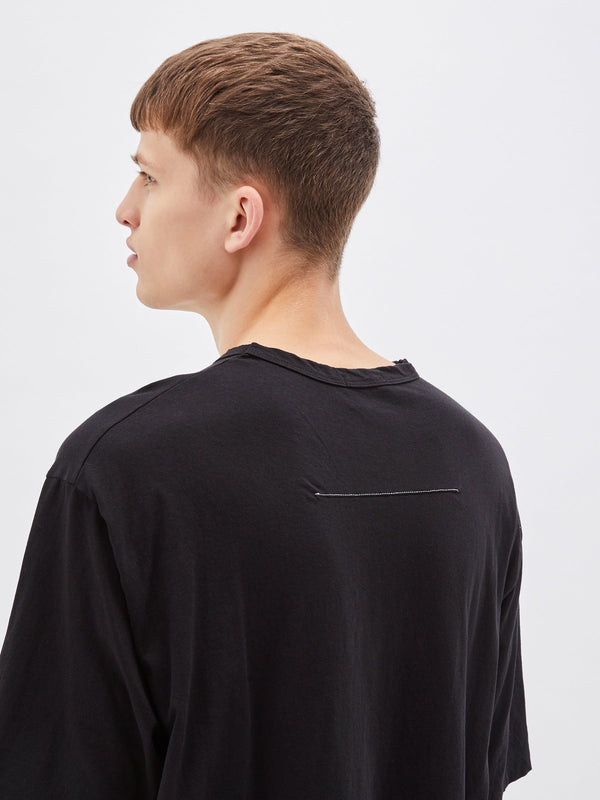 bassike super slouch t.shirt in black