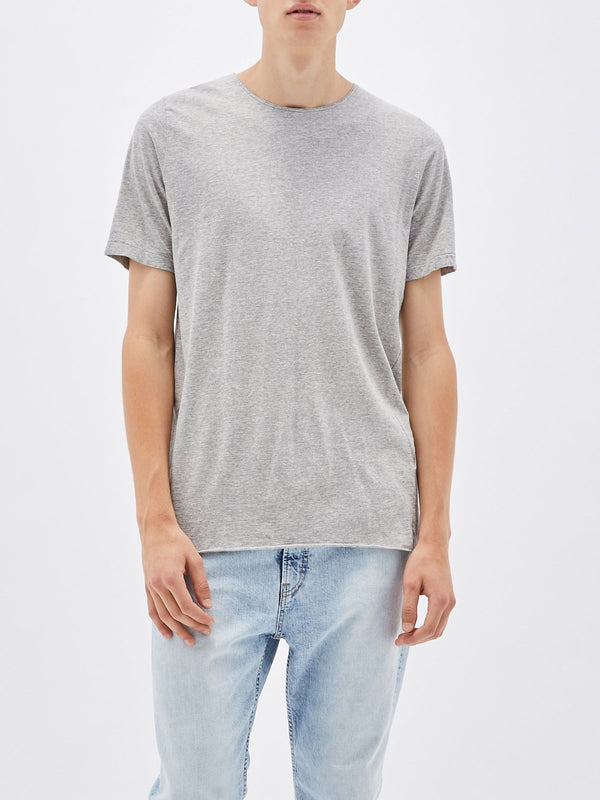 bassike original t.shirt with tail in grey marl