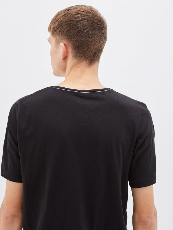 bassike original t.shirt with tail in black