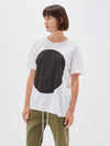 bassike womens dot t.shirt in white / black dot