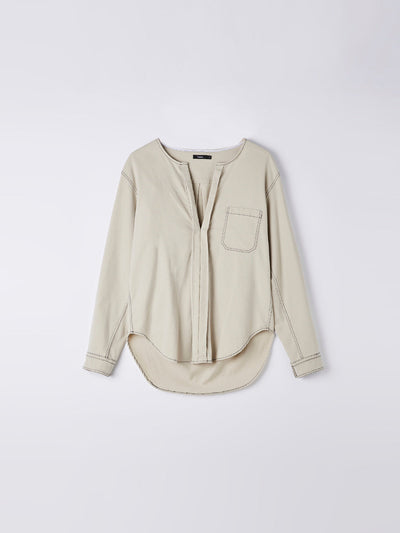 cord reverse placket shirt