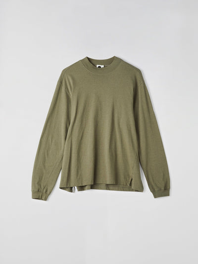 rib neck oversized long sleeve t.shirt