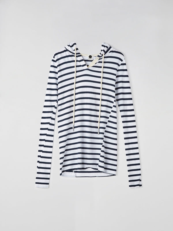 placket detail hooded top