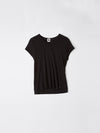 bassike fitted cap sleeve t.shirt in black