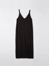 bassike v neck jersey slip dress in black