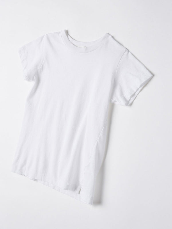 bassike mini classic vintage t.shirt in white