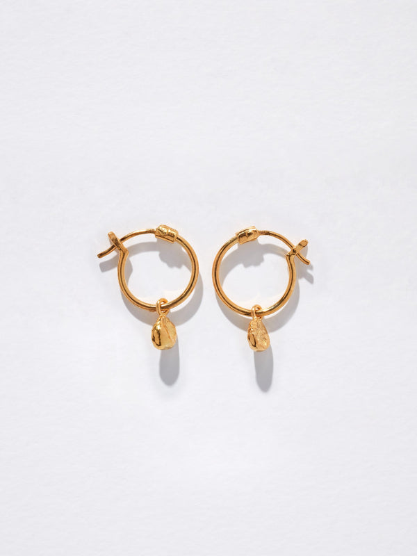 bassike alexandra zumbo tiny petal sleepers in gold plated