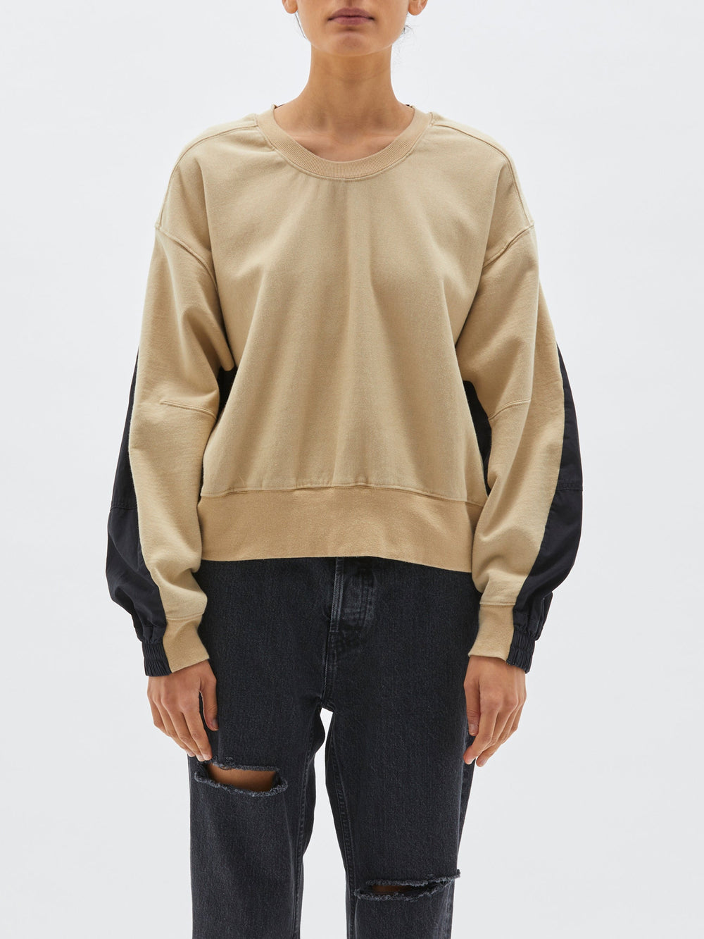cotton back crew sweat