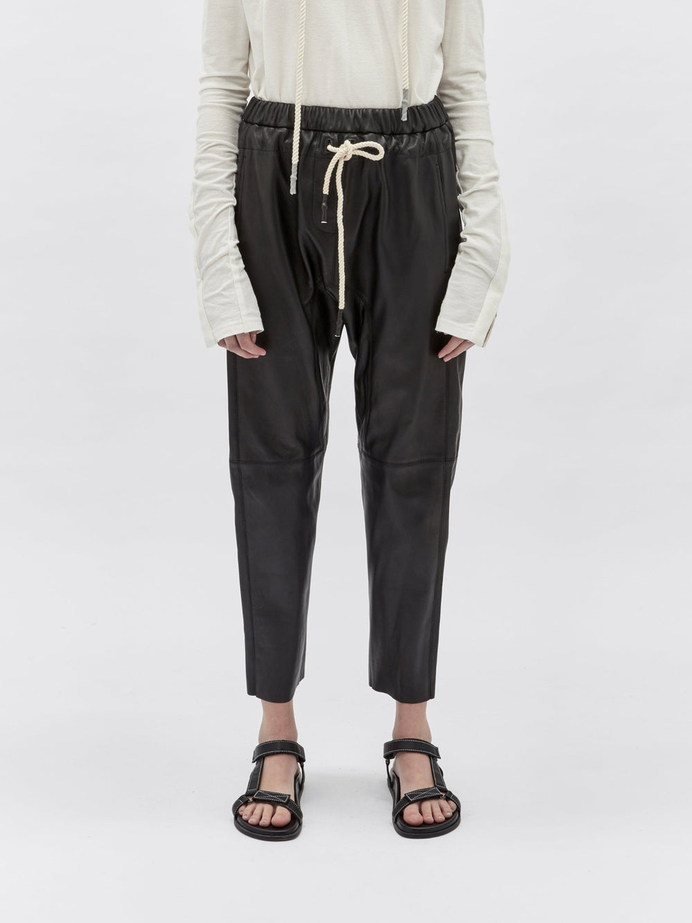 relaxed leather pant ll