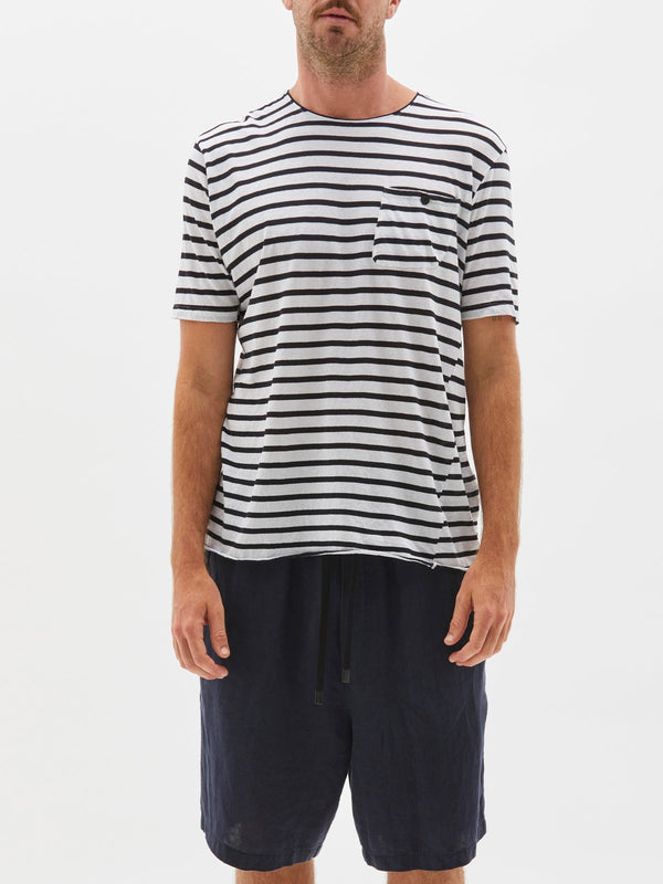 stripe original pocket t.shirt