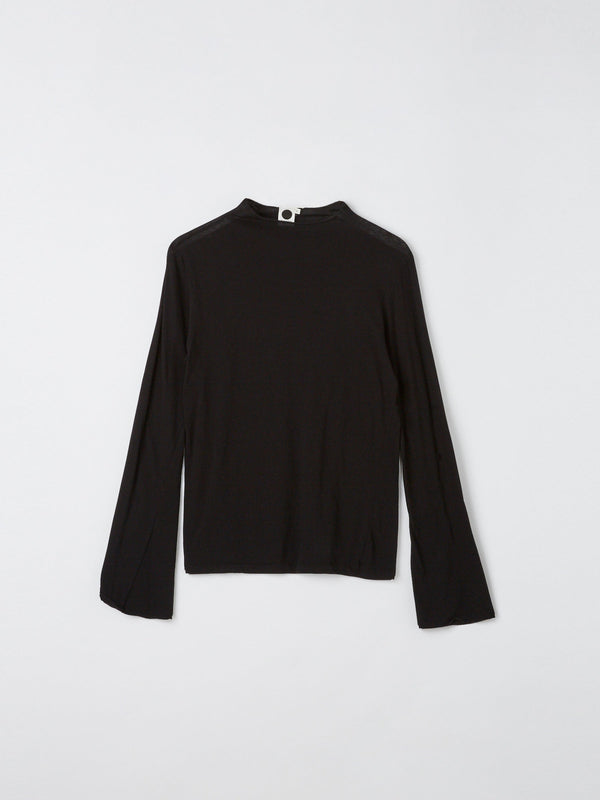 raised neck slim long sleeve t.shirt