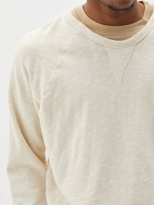 shop the slub rib raglan sweat online at bassike. a relaxed fit sweat in 100% cotton with textured feel. free shipping and returns within australia.
