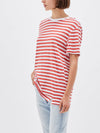 bassike stripe classic vintage t.shirt in vintage-red-white