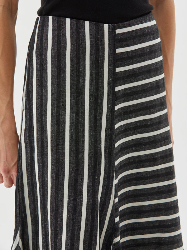 stripe linen handkerchief skirt