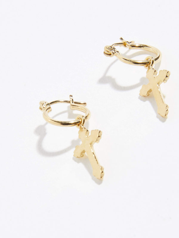 bassike alexandra zumbo tiny cross sleepers in gold plated