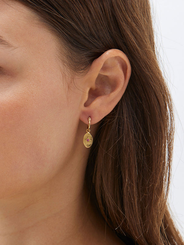 bassike alexandra zumbo tiny oval sleepers in gold plated