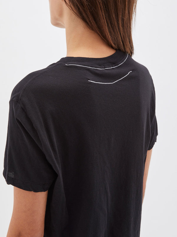 bassike slim fit classic t.shirt in black