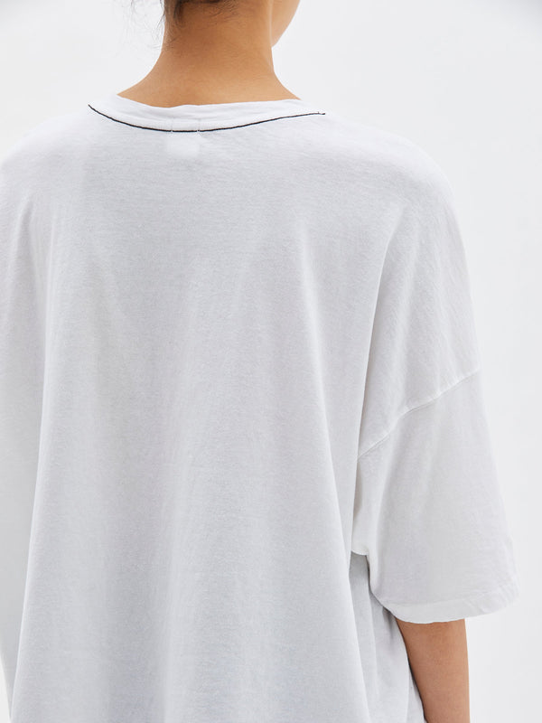 slouch side step short sleeve t.shirt