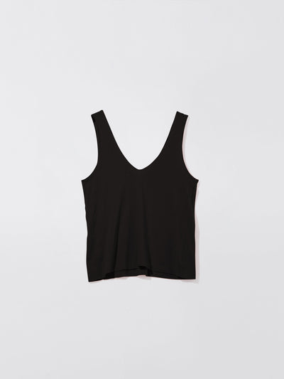 fitted v neck tank