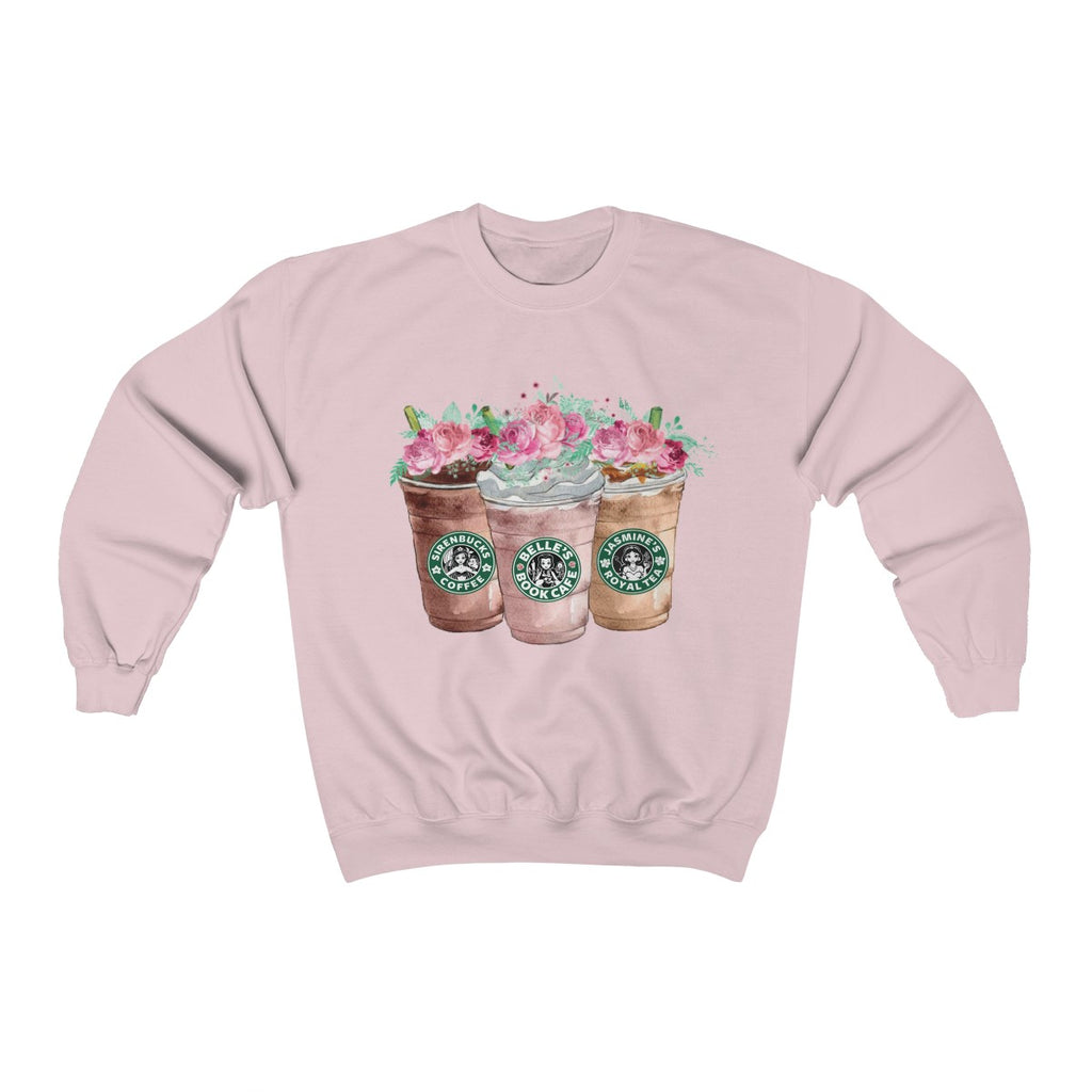 Princess Coffee Floral Crewneck Sweatshirt
