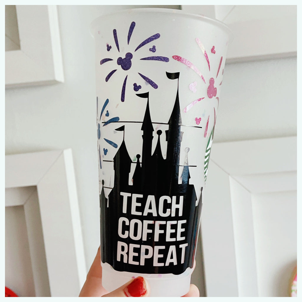 Teacher Castle with Fireworks Cold Cup