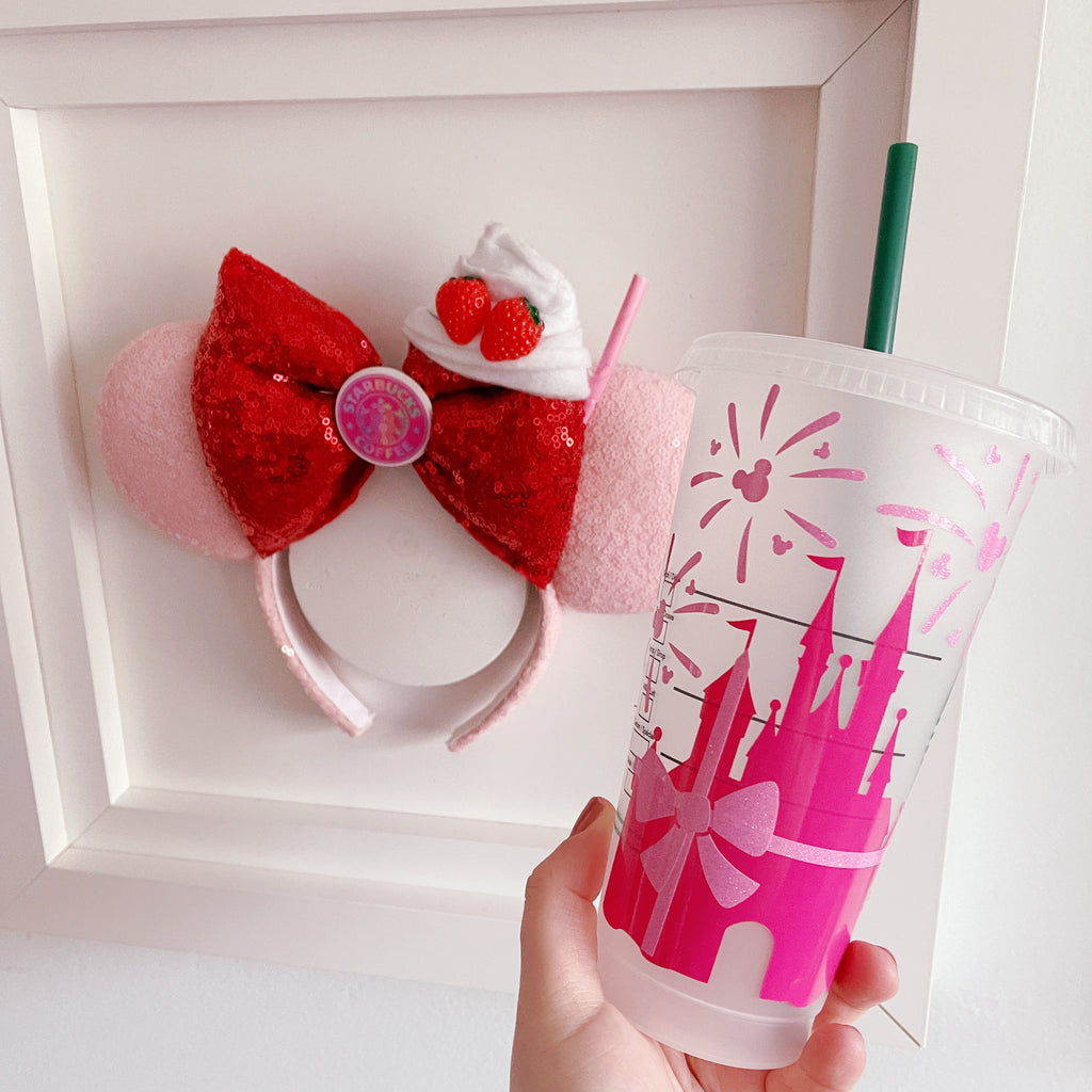 Dark Pink Castle Venti Cold Cup