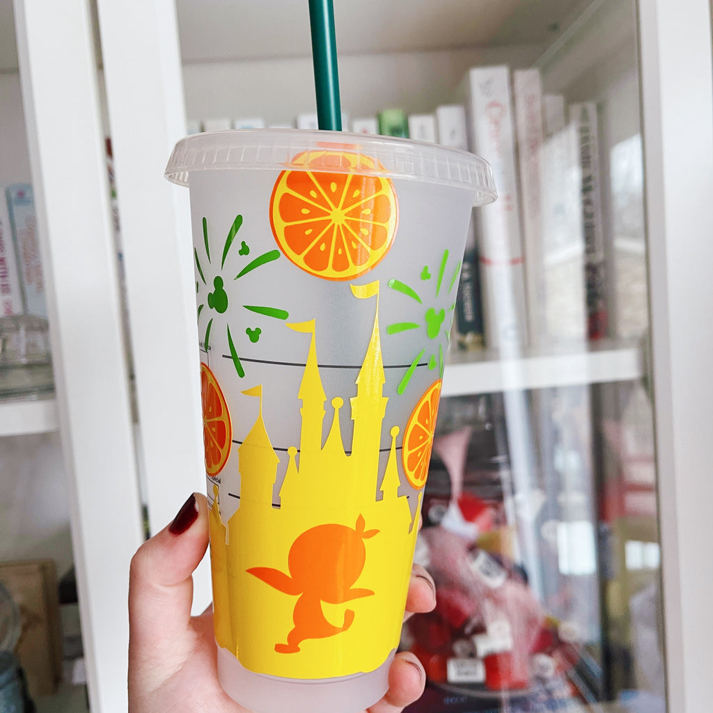 Orange Character Castle Inspired Cold Cup