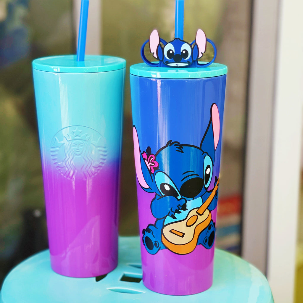 626 Full Color Character on Blue and Purple Ombre Tumbler with Straw Buddy