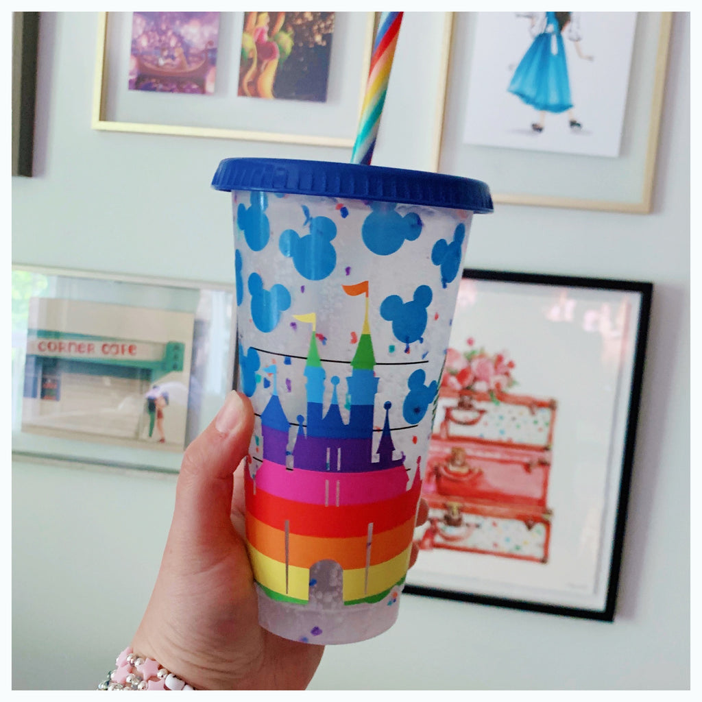 Rainbow Castle Confetti Cold Cup
