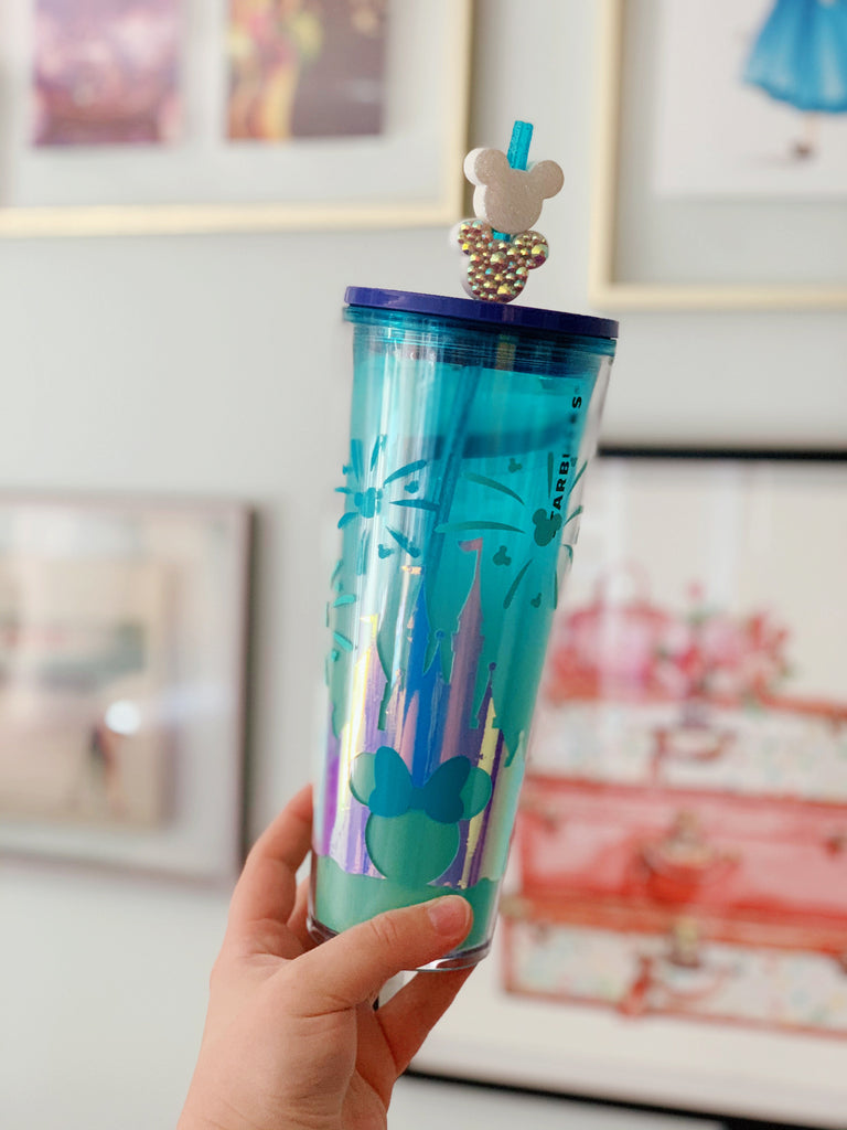 Opal Metallic Castle with Blue Fireworks Venti Cold Cup Tumbler