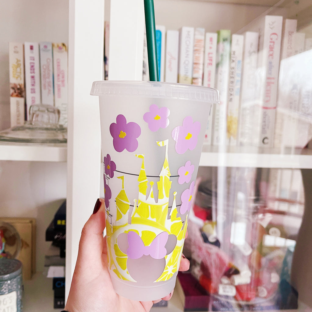 Violet Lemonade Inspired Castle Cold Cup