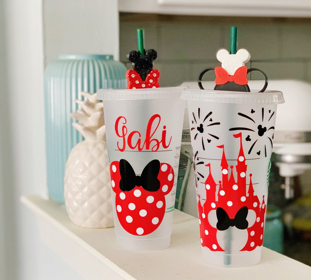 Mouse Inspired Red w/ White Dots Cold Cup