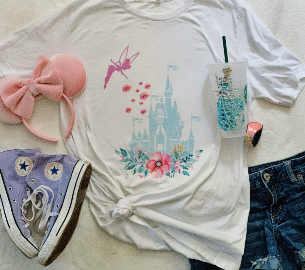 Castle Floral Pixie Dust t-shirt