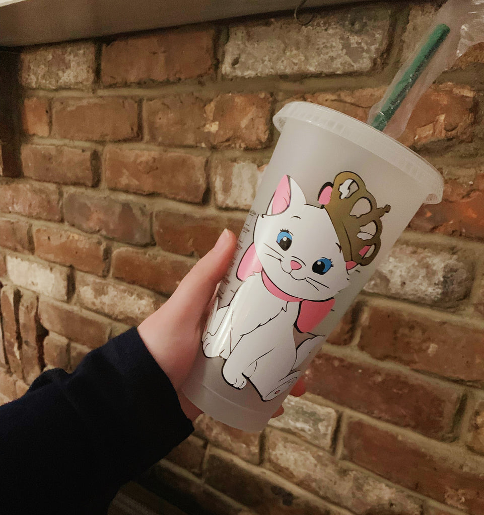 Cat with Crown Reusable Cold Cup