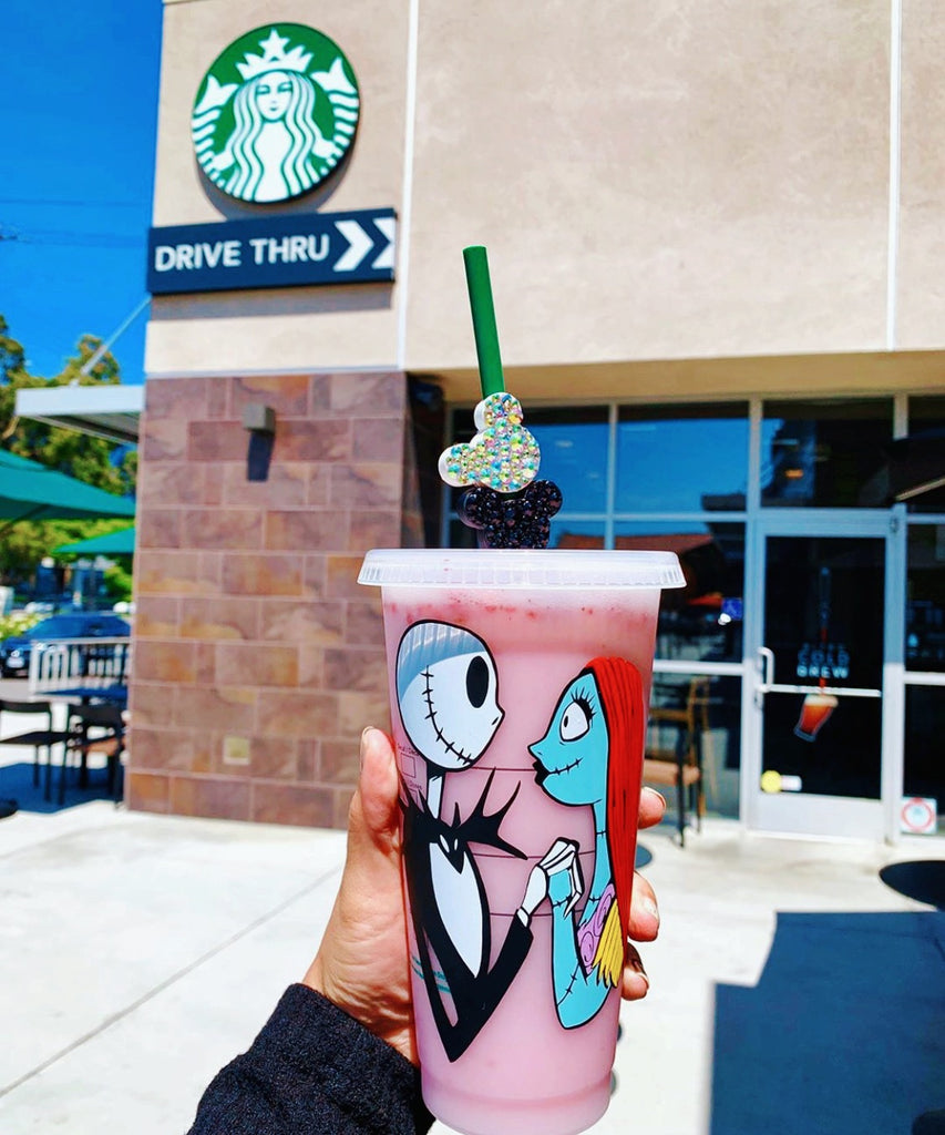 Jack and Sally Inspired Personalized Venti Reusable Cold Cup