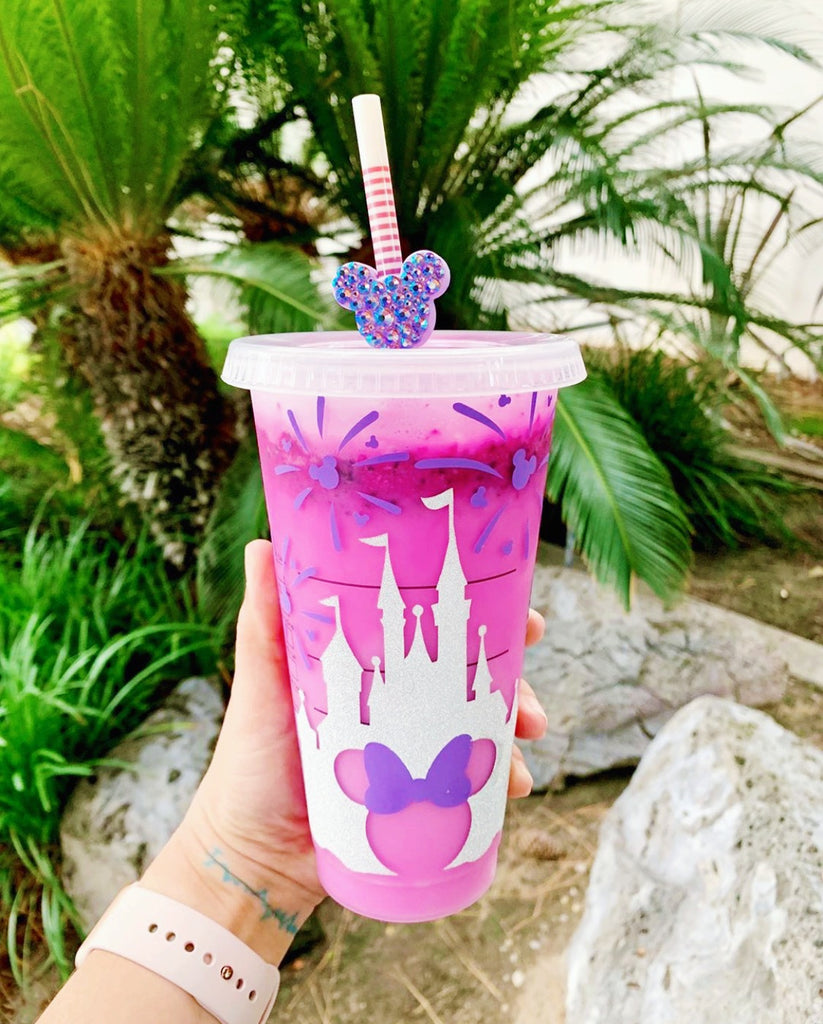 White and Purple Castle Cold Cup
