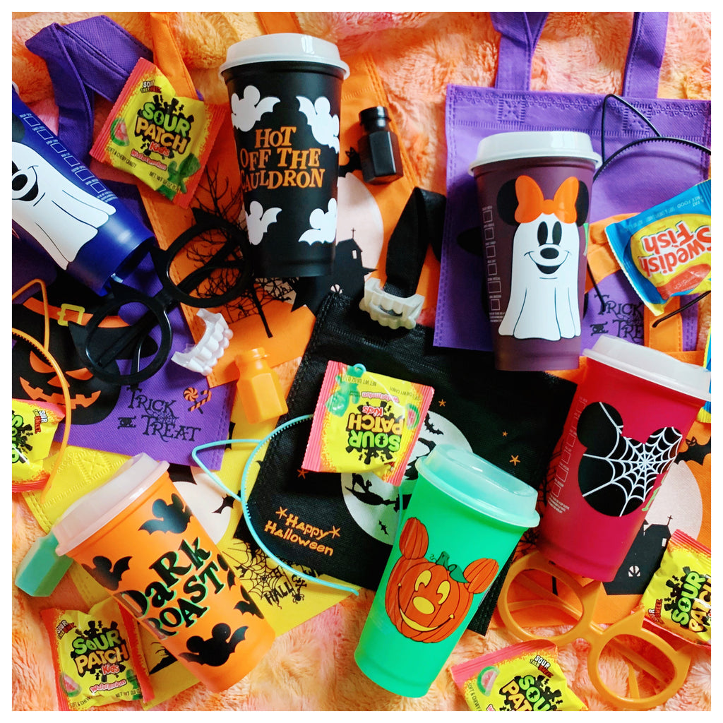 Halloween Hot Cup Mystery Goodie Bag w/ Glow in the Dark lid
