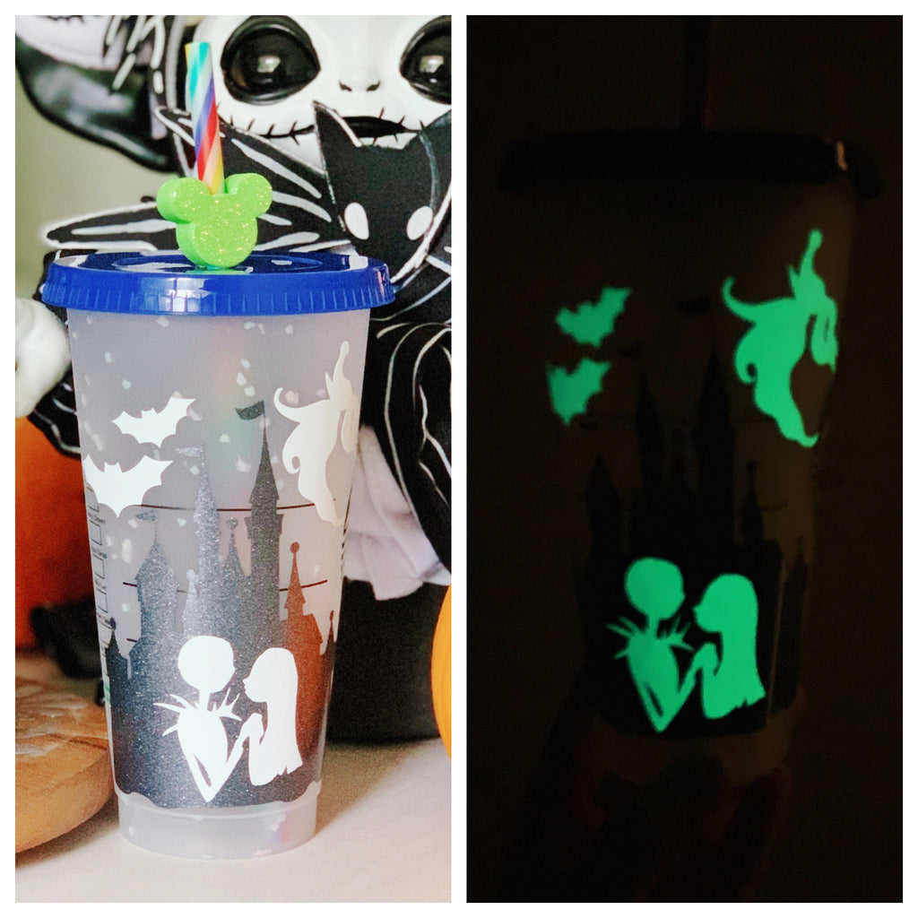 Halloween Movie Themed Castle Confetti Color Changing Cold Cup