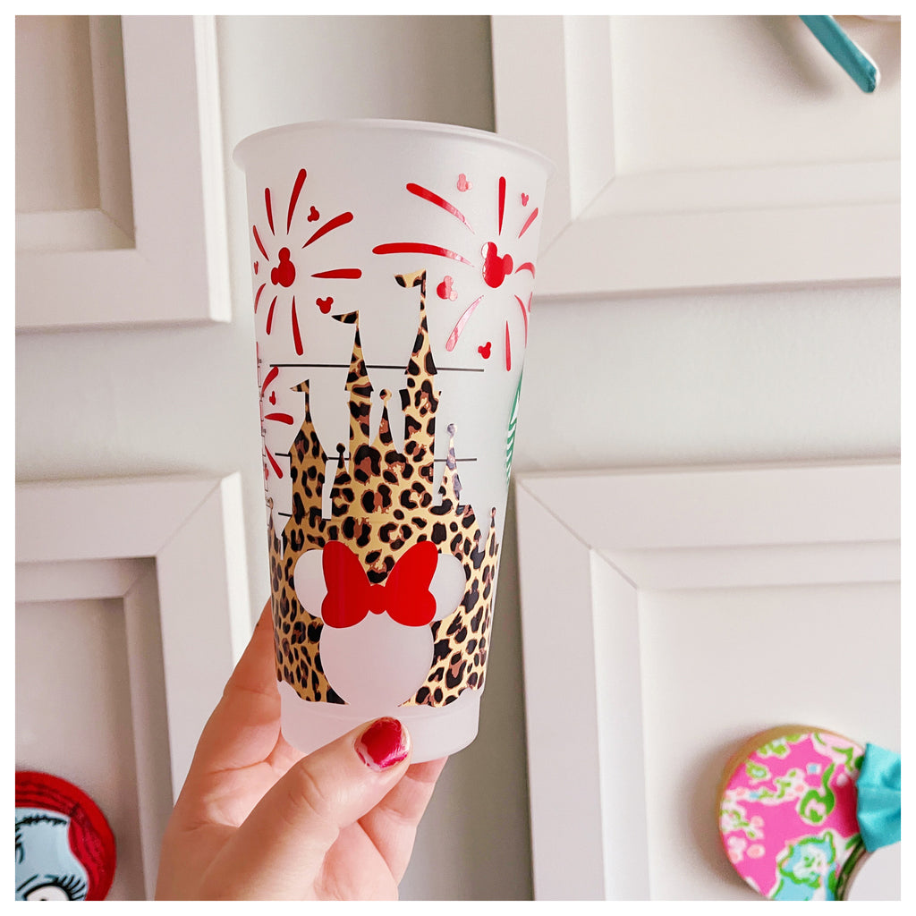 Cheetah Castle w/ Red Castle Venti Cold Cup