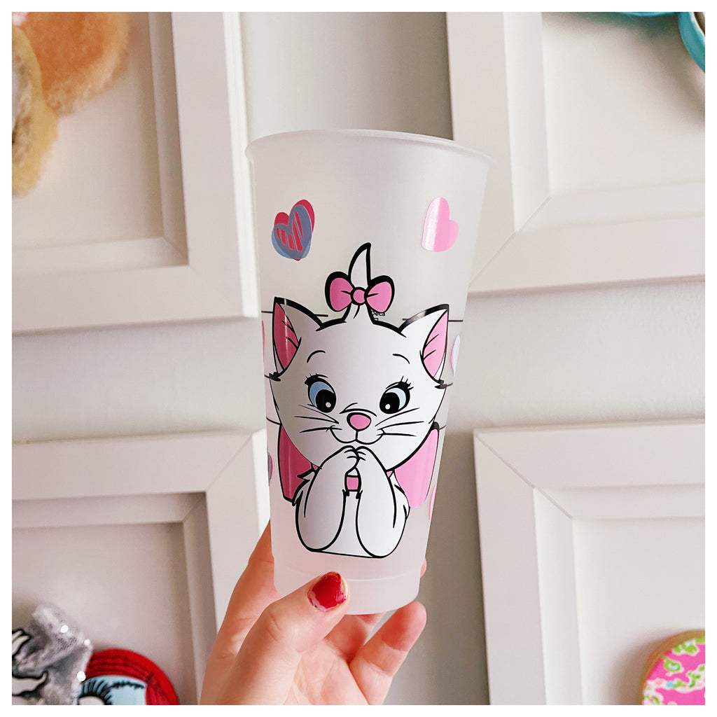 Marie Cat w/ Hearts Venti Cold Cup