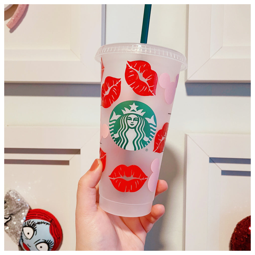 Mouse Head and Kisses Venti Cold Cup