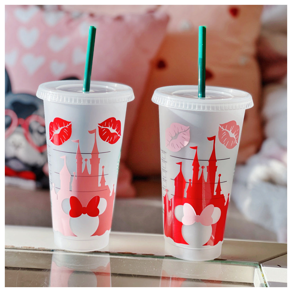 Valentine's Day Castle w/ Kiss Venti Cold Cup