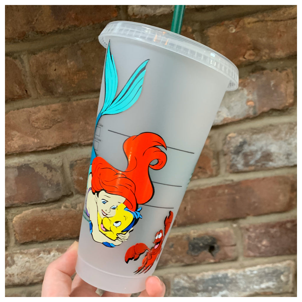 Mermaid and Friends Character Inspired Cold Cup