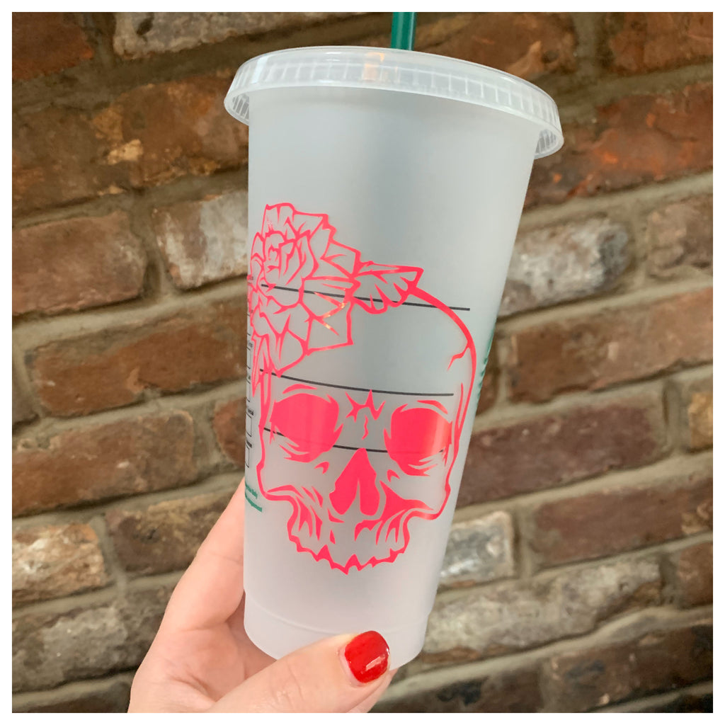 Floral Skull Cold Cup